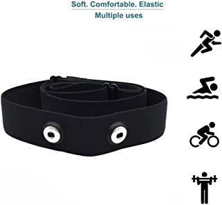 SHANREN Heart Rate Monitor Chest Strap Replacement, Adjustable Chest Belt, Works with Polar H7,Shanren, Wahoo,Garmin Transmitters