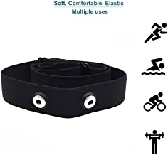 Heart-Rate-Monitor Chest-Strap Beat 20 Rechargeable Fitness Tracker with Vibration Alert, Bluetooth & ANT+ Activity Tracker, IP68 30m Waterproof, 100 Sessions Memory (Strap Replacement)