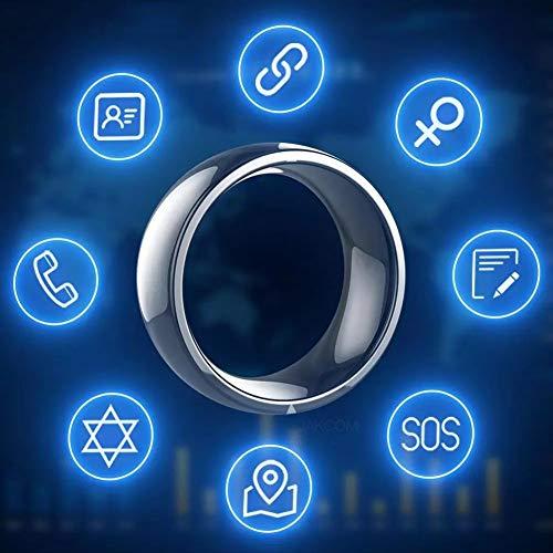 CZX Anillo Inteligente, R4 Anillo Inteligente Dispositivo Portátil Anillo Mágico NFC Impermeables Hombres Y Mujeres Sanos Anillo De La Joyería para iOS Android,10
