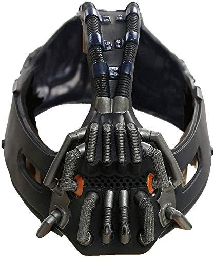 Bane Maske Erwachsene Metall Farbe Zerstörer Maske Batman Film Charakter Der dunkle Ritter steigt Cosplay Kostüm Zubehör