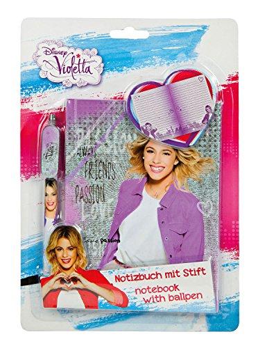 Undercover VIAE2140 - Notizbuch mit Stift Disney Violetta, liniert, grau