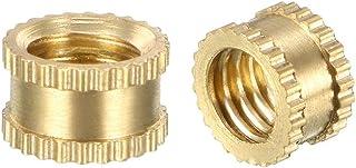 uxcell Knurled Threaded Insert, M5 x 4mm L x 6.5mm OD Female Thread Brass Embedment Nuts, Pack of 100