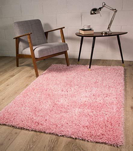 The Rug House Tappeto Ontario Shaggy Extra-Morbido Antiscivolo, Colore Rosa - Disponibile in 4 Misure