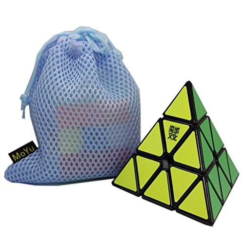 OJIN MoYu Pyraminx Suave Pyramid Velocidad Cubo mágico Tetraedro Rompecabezas con Cubo