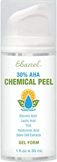 Ebanel Chemical Peel for Acne Scars and Dark Marks, Wrinkles & Dark Spots - Gel Form, Anti Aging Acne Treatment Glycolic Acid Peel Plus Lactic Acid Peel, TCA Peel with Hyaluronic Acid, Vitamin C