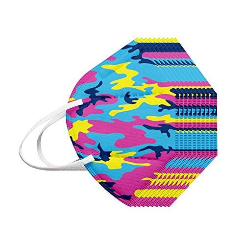 Wekdeg 10/20/30/50/100PC Unisex que cubre la cara con estampado de camuflaje de tela de algodón bufanda de 5 capas para ciclismo al aire libre / senderismo