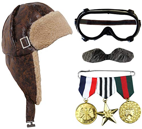ADULTS 1940S AVIATOR WITH WAR ME...