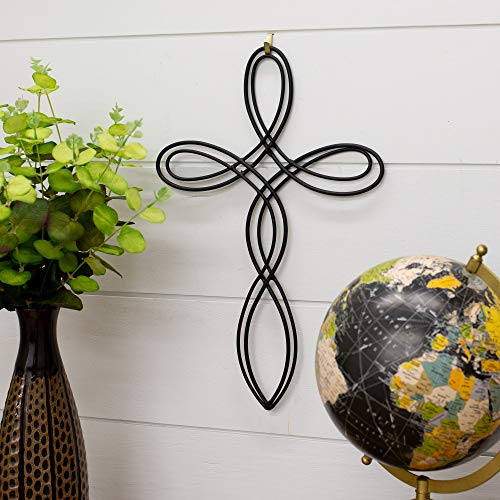 Dicksons Open Oval Flowing Metal 16 inch Decorative Wall Cross
