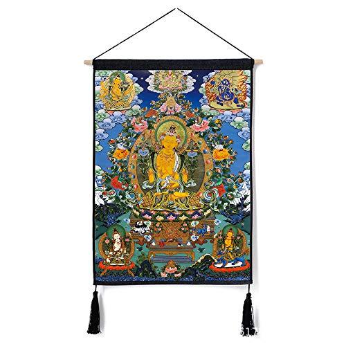Tibet Thangka dekorative malerei Wohnzimmer Schlafzimmer nationalen Wind hängen Tuch malerei J 46 * 65 cm