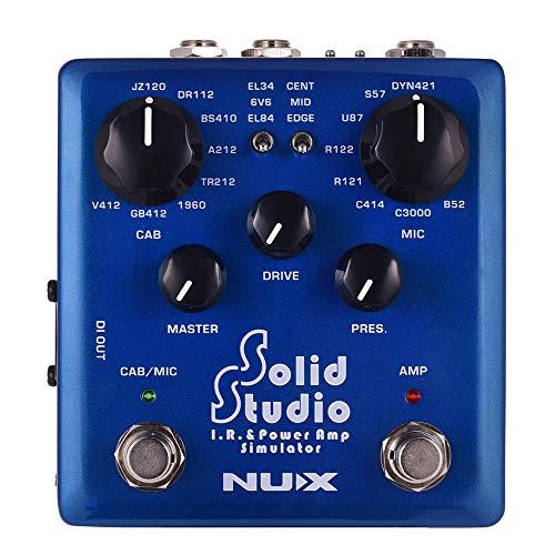 Muslady NUX IR&パワーアンプシミュレータ ギターエフェクトデュアルフットスイッチ 内蔵8キャビネット 8...