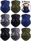 Summer UV Protection Neck Gaiter Scarf Balaclava Breathable Face Cover Scarf (Black, Dark Grey, Navy Blue, Army Green, 8)