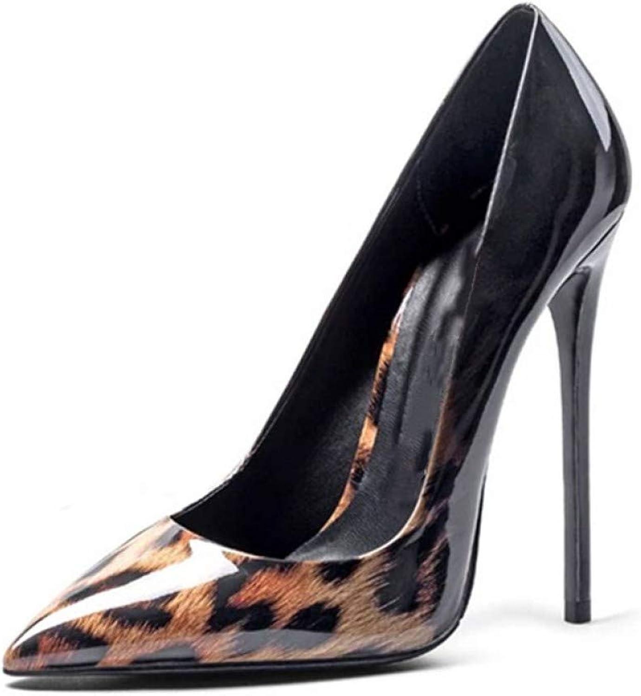 Ai Ya-liangxie Mix Farbe Leopard Print Pumpen Pumpen Pumpen Frauen Schuhe Schuhe Flache Sexy Party Schuhe Frauen High Heels Schuhe Frau Feder  27b8fc