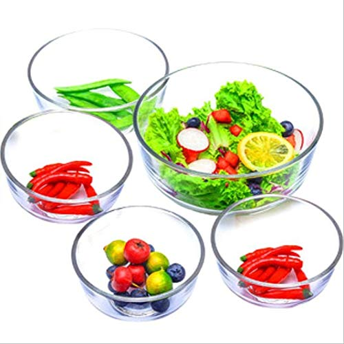 Glass Mixing Bowls Lead-free Transparent Stackable Salad Bowl Prep Serving Dessert Container
