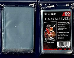 professional Ultra Pro 5 (Five) 100 Soft Sleeve / Penny Pack for Baseball and Other Sports Cards