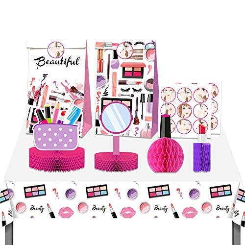 JeVenis 15 bolsas de maquillaje para fiesta de maquillaje, mesa de fiesta, centro de mesa de spa, suministros de fiesta de cumpleaños