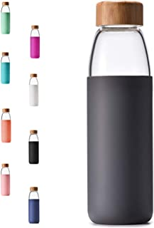 Best glass water bottle with wood top Reviews