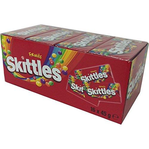 Skittles Fruits, Fruchtig, 16 Packungen Kaubonbons à 45 g