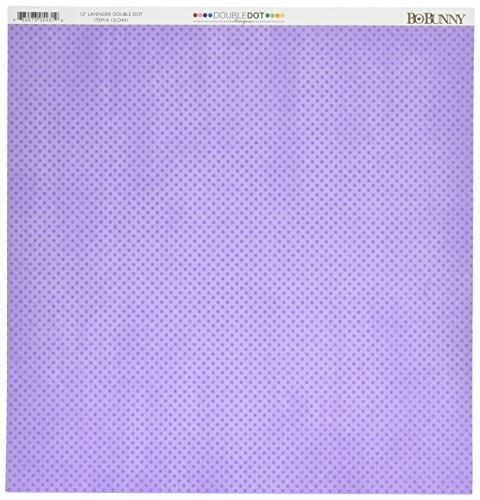 Bo Bunny Double Dot Paper 12x12 Lavender -  Bazzill, BBU12LD431