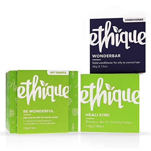 Ethique Shampoo and Conditioner Set for Itchy Scalps, Be Wonderful (Heali Kiwi & Wonderbar)