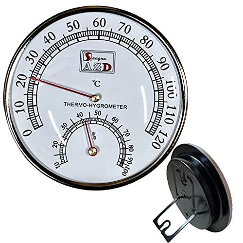 Roost サウナ 温湿度計 【壁掛け卓上両方対応】 アナログ 10°C〜120°C 0%〜100% 自立式 卓上 湿度計 温度湿度計 レトロ 壁掛け