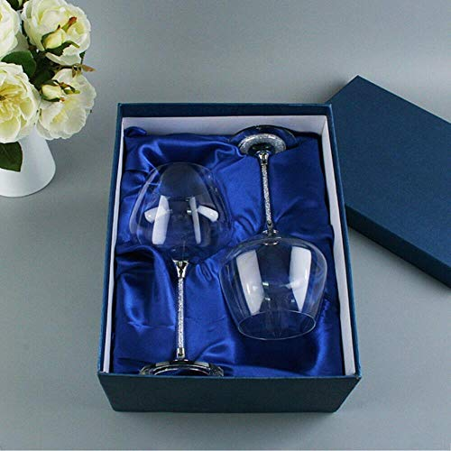 Ltong wijn Tumblr glazen wijn Crystal Diamond glanzende decoratieve wijnglas aangepaste gegraveerde glazen bruiloft bekers, geschenkdoos, 501-600ml