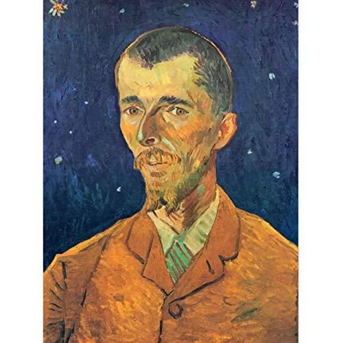 Jcnfa Werken gemaakt door Vincent van Gogh, Portret van Eugene Boch, Wall Art Canvas Poster, voor Woonkamer Slaapkamer, geen frame (Color : 01, Size : 60 * 90cm/24 * 36inch)