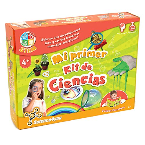 Science4You-Mi Primer Kit de Ciencias-Juguete Cientifico para Nios +4 Aos KDE, Color multocolor, nica (600270)