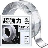 ケンコバハンズ 両面テープ 超強力 はがせる 魔法テープ 透明 多用途 20mm×10Mあと残らず利用可能 (幅20mm×10M)