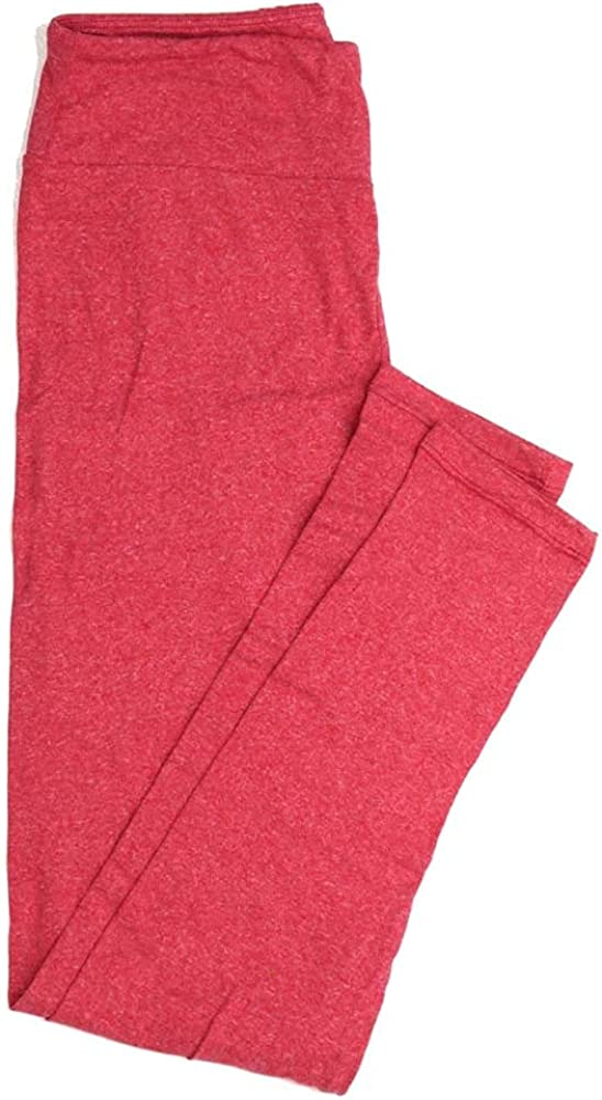 Lularoe One Size OS Solid Heathered Red Buttery Soft Womens Leggings fit Adult Sizes 2-10 OS-4372-BA-HEATHEREDRED