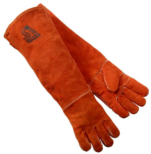 Product Image of the Steiner 21923-L Welding Gloves, Burnt orange Y-Series 23-Inch Length Shoulder Split Cowhide, Foam Lined, Large
