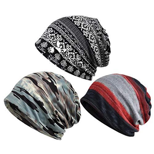 Sombrero de quimioterapia para Hombres, Paquete de 3 Gorros, Gorro, Bufanda, turbantes, Sombrero, Gatsby, cáncer, Cabeza, envolturas