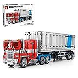 Myste Camiones de ingeniería con remolque, bloques de construcción para 42043 Arocs, 2073, bloques de construcción para camión con contenedor, juego de construcción compatible con Lego Technic