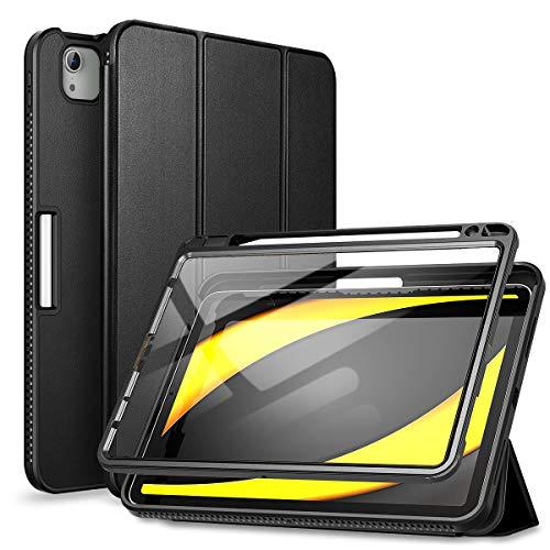 SURITCH Funda Carcasa para iPad Air 4 (2020) 10,9 Pulgadas/iPad Pro 11 (2018&2020 con Soporte Función, Auto-Sueño/Estela Case con Protector de Pantalla Incorporado (Negro)