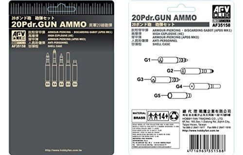 AFV Club 35158 British 20-pdr Brass Ammunition 1:35