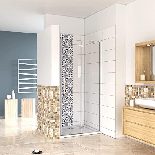 Mampara de ducha abatible y con cristal fijo