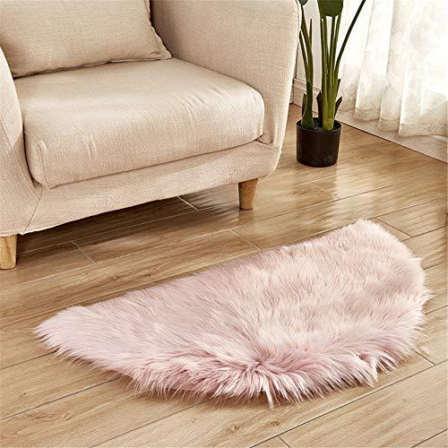 DHHY Halbrund Teppich Plüsch Teppich Home Wohnzimmer Dekoration Schlafzimmer Erker Tür Matte D 60X120 cm