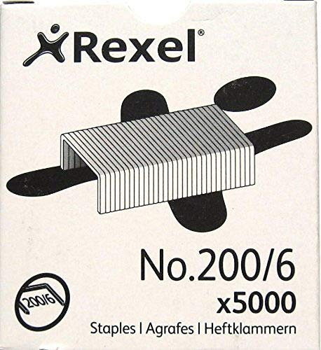 Rexel 200/6 Heftklammern, 6 mm, 5000 Stück