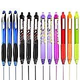 Paper Mate Inkjoy - Bolígrafos retráctiles, flujo de tinta ultra suave, 12 bolígrafos, varios colores, colores pueden variar