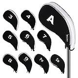 Andux Nuovo Disegno Copri Mazza Golf con Cerniera 10pcs/Set MT/YB03 Nero/Bianco