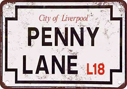 La plaque de rue en métal The Beatles Penny Lane