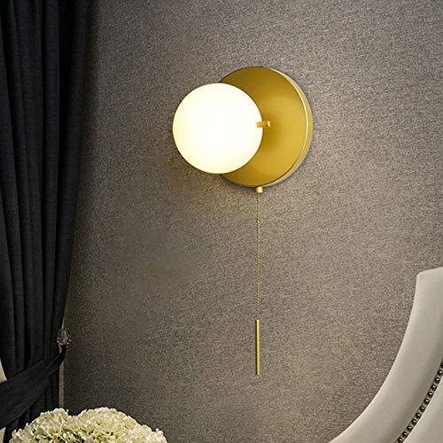 SYyshyin Lámpara de pared con interruptor de cremallera para sala de estar, pasillo, pasillo, lámpara de pared, lámpara de decoración comercial, 15 x 57 cm