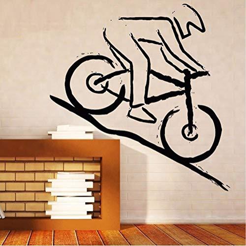 Zfkdsd Wandaufkleber Steuern Dekor Vinyl Aufkleber Aufkleber Mountainbike Racer Robustes Gelände Wettbewerb Diy Vinyl Wandtattoos 57 * 65 Cm