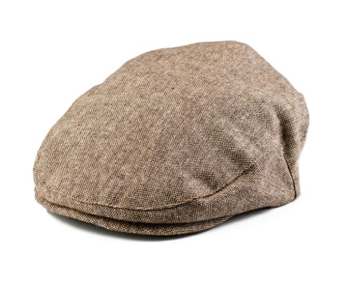 Born to Love Boys Tan and Brown Newsboy Cap XS 48cm 12 to 24 Months