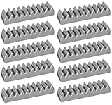 LEGO Technic NEW LIGHT GREY RACK GEAR SET Track Kit 1x4 Part Piece brick Mindstorms NXT robot robotics assortment pack ev3 motor (Pack of 10 pcs)