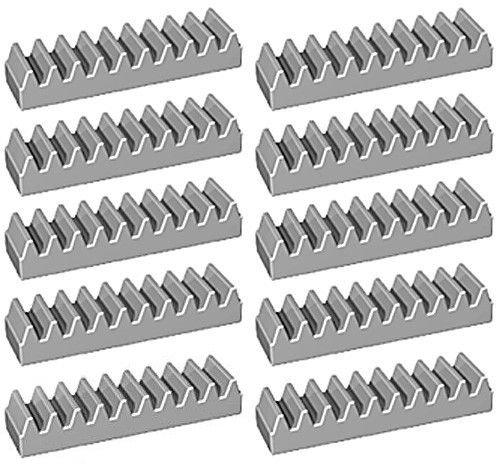 LEGO Technic NEW LIGHT GREY RACK GEAR SET Track Kit 1x4 Part Piece brick Mindstorms NXT robot robotics assortment pack ev3 motor (Pack of 10 pcs)