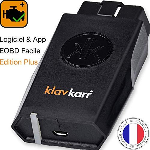 klavkarr 210 - Valise Diagnostic Auto Multimarque OBD2 Bluetooth - 100% en Français - Prise OBD Diagnostique Voiture Diesel & Essence...