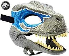 Get ready for thrilling action and adventure with Jurassic World! Masks are inspired by the movie's iconic Tyrannosaurus Rex and Indoraptor and features realistic details like skin texture, color and teeth so kids can become their favorite dinosa...