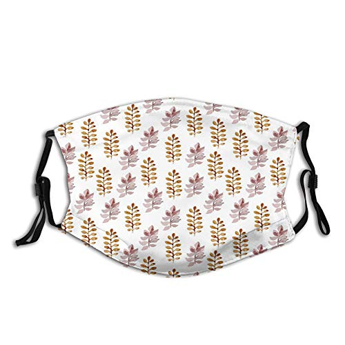 N/O Fundas personalizadas para proteger la cara, estilo dibujado a mano, colorido, ropa de cama, plantas, rosas y flores silvestres con pequeños puntos (41), protector de media cara.