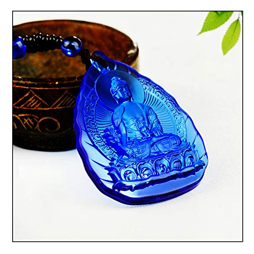 Wixine 1Pcs Buddha Pendant Medicine Statue Necklace Amulet Blessed Glass