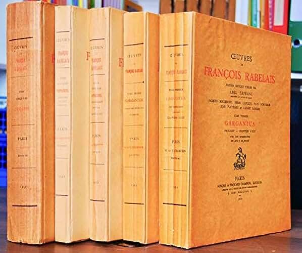 OEUVRES (...) Edition critique publiée par Abel Lefranc.